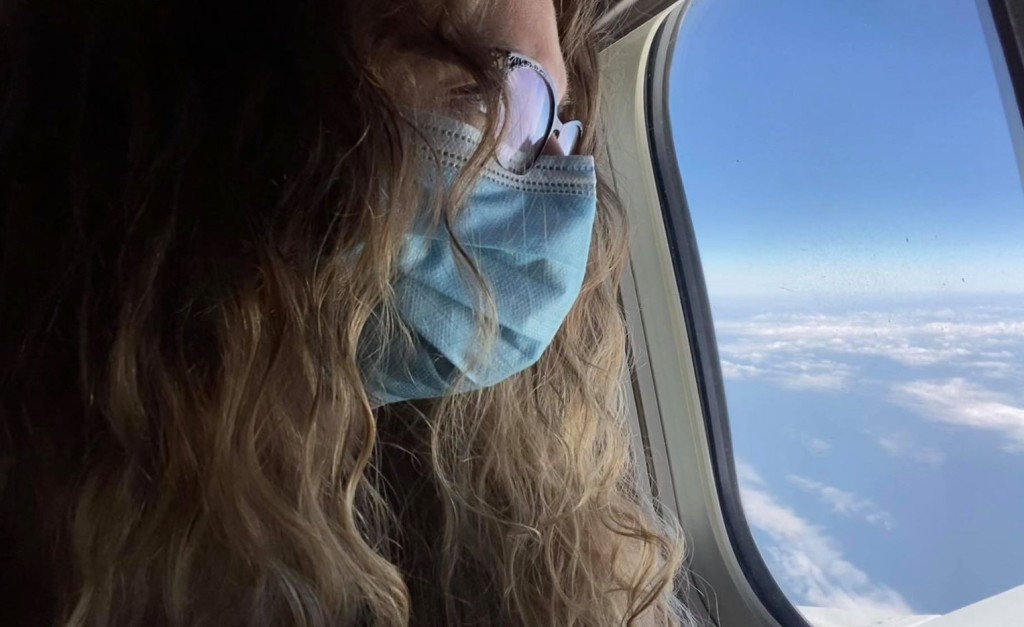 flights during pandemic facemasks on