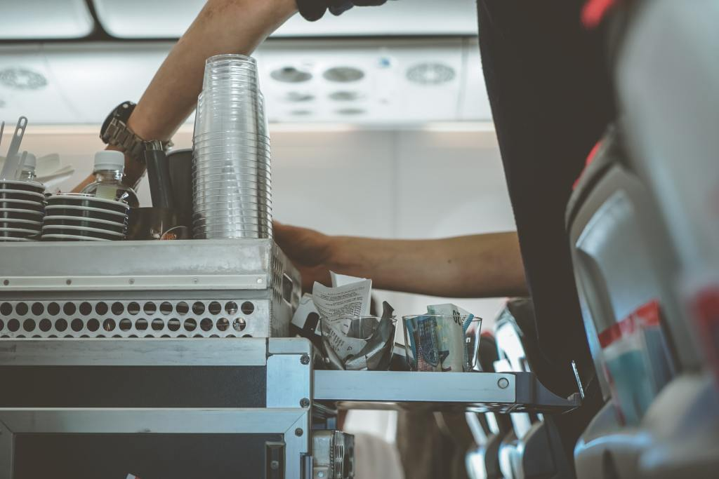 bar service on flights during pandemic